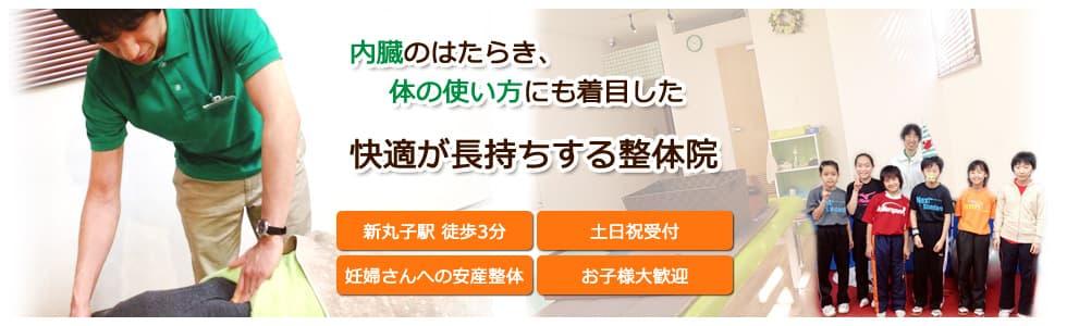 内臓のはたらき、体の使い方にも着目した快適が長持ちする整体院 新丸子駅徒歩3分